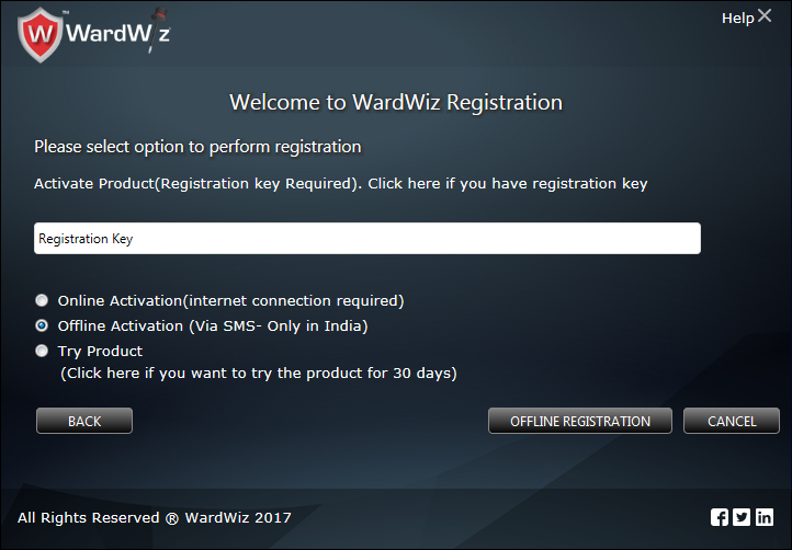 WardWiz Activation by SMS